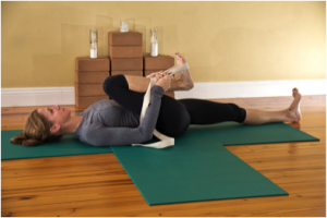 Second position of Yoga Big Toe Pose